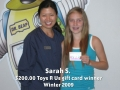 Sarah S - Winter 2009 winner