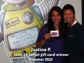 Justine P - Summer 2012 winner