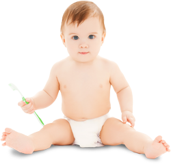 Infant-with-toothbrush